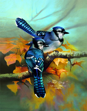 Bird Paintings, animal & wildlife paintings, paintings of ... |Fall Bird Paintings