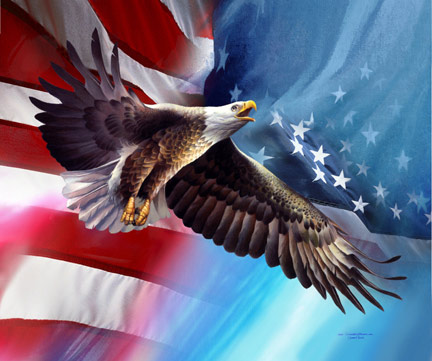 American Flag  Eagle Tattoos on American Eagle Talit  American Flag  Eagle Flag  Decorative Banner