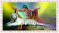 By his stripes ye are healed.