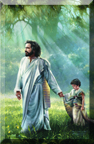 Christ leading child