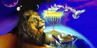 Big Menorah flag - praise and worship