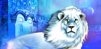 White Lion Flag - white lion praise and worship banner